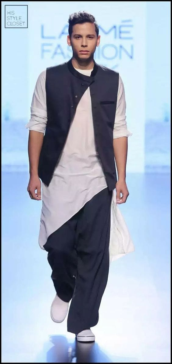 Kurta and white shoes