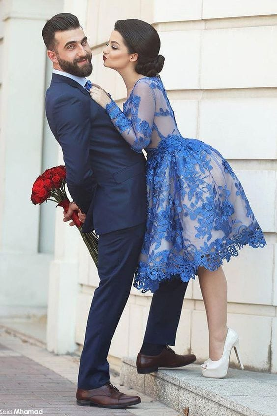 Swing Dress for Prewedding photo Shoot