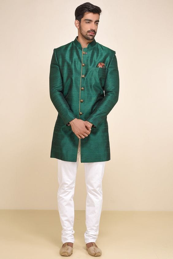 green outfit for mehndi