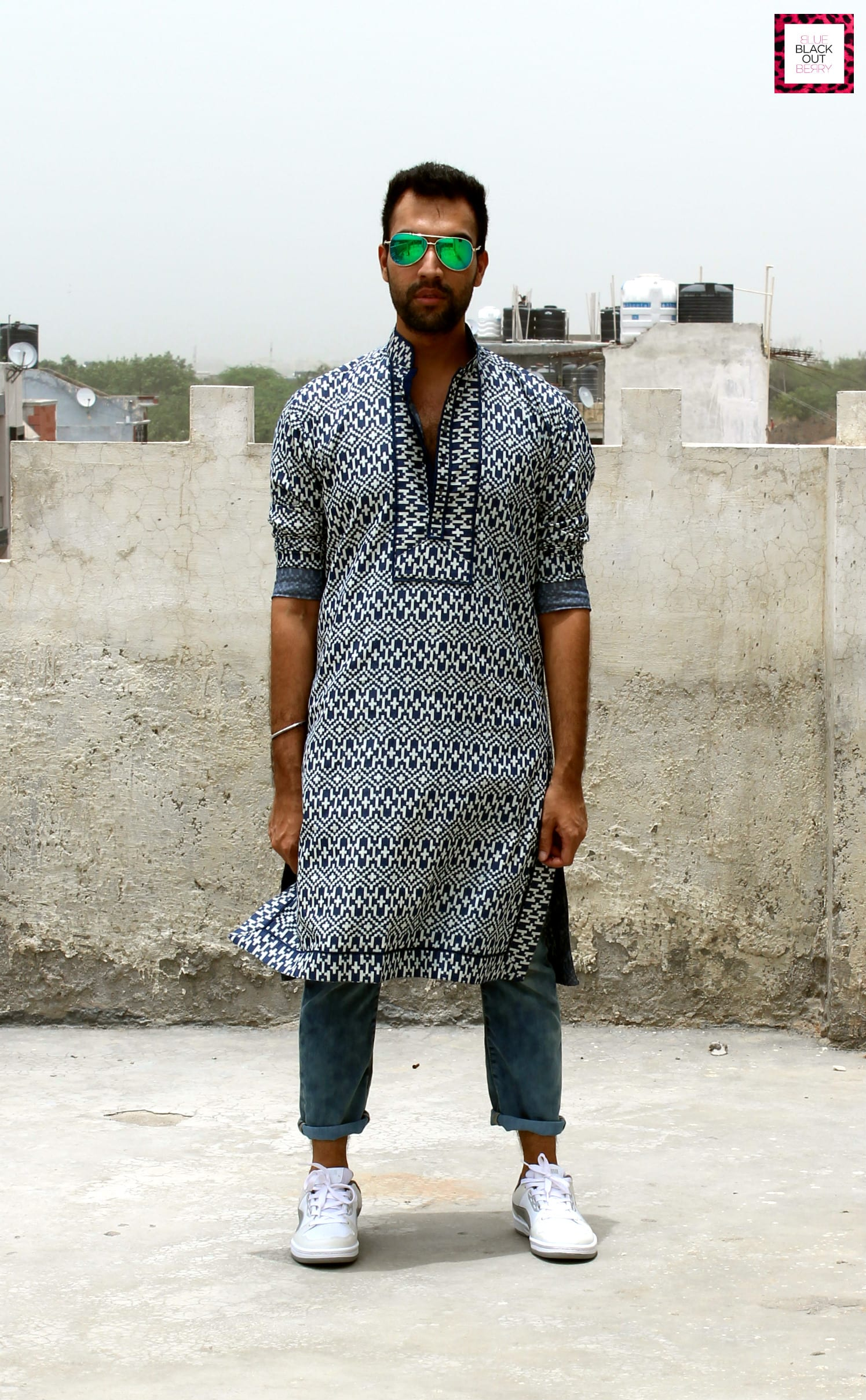 kurta styled with jeans