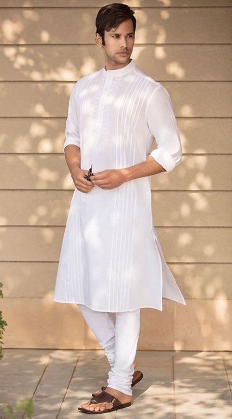 plain white kurta pajama