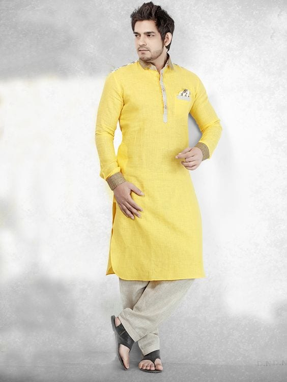 yellow outfit for haldi