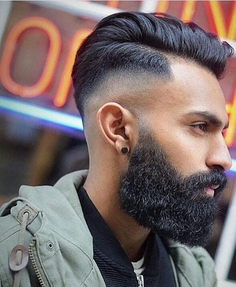 amazing bearded fade