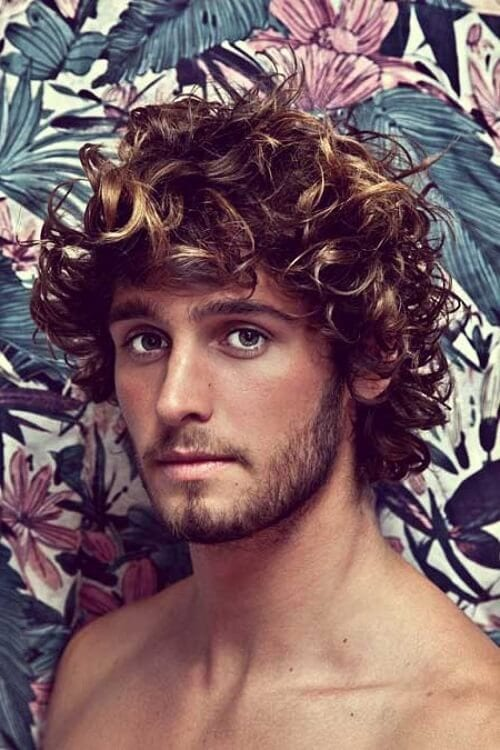 best curly hair for men