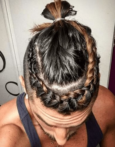 best side braided top knot