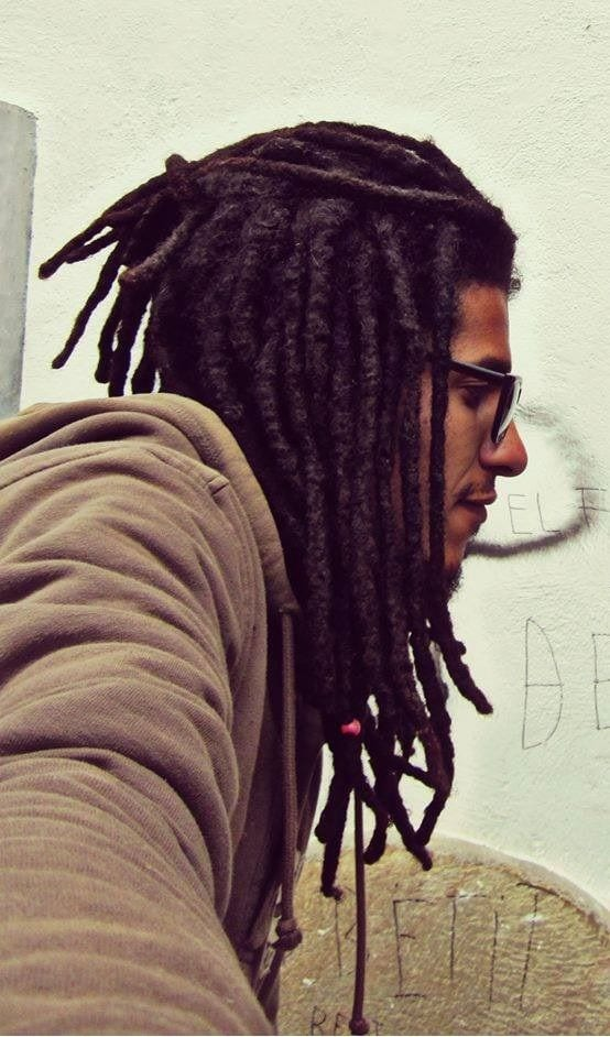 half ponytail dreadlocks for men