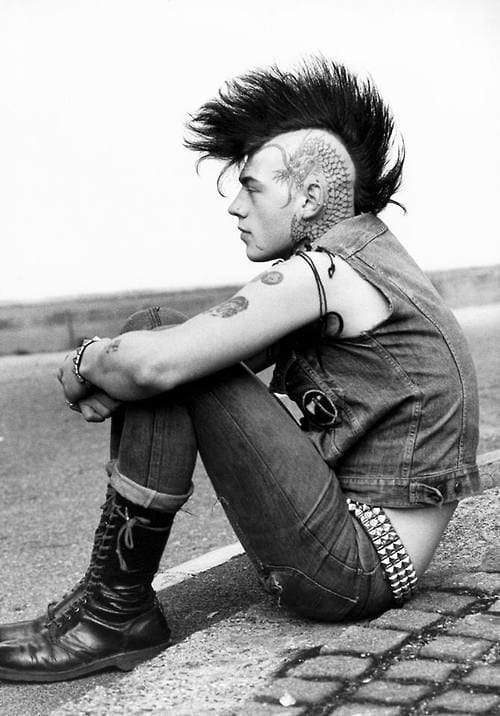 side shaved mohawk spikes