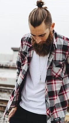 best top knots with beard