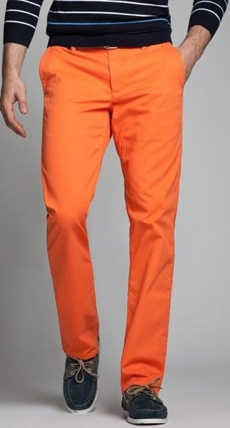 orange chino colour to avoid