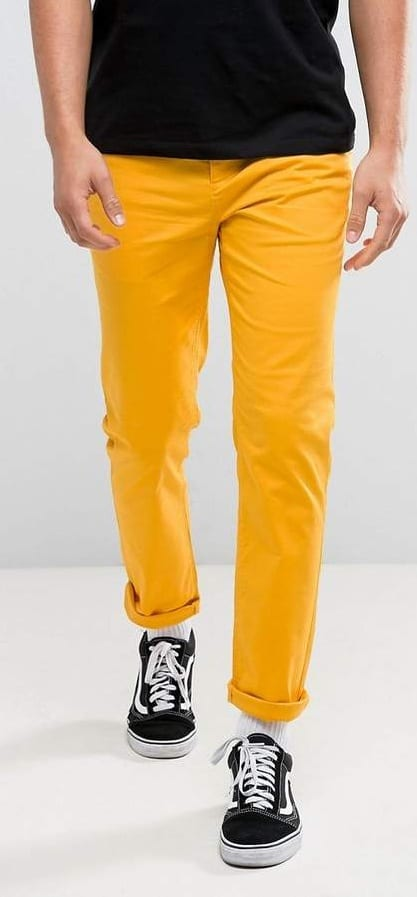 yellow chino colour to avoid