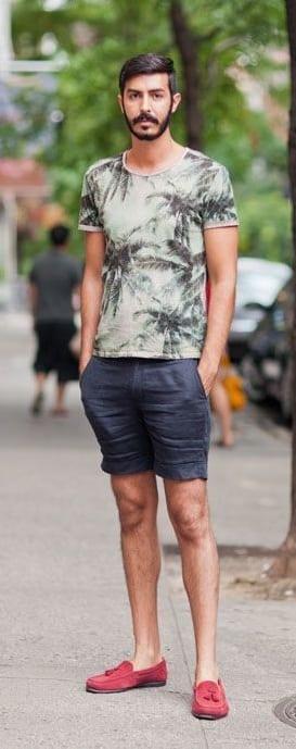 T-shirt + Shorts + Loafer-Minimalist Wardrobe