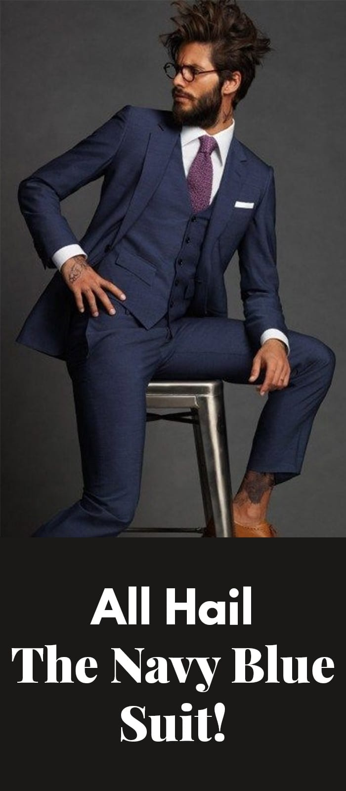 The Navy Blue Suit!