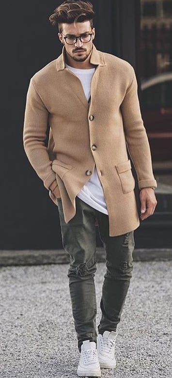 brown outfit-Medium skin tone men style