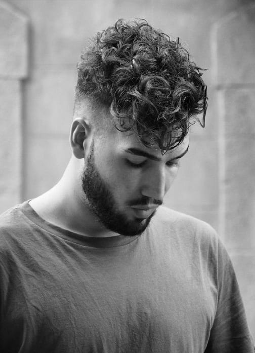 curly fade hair
