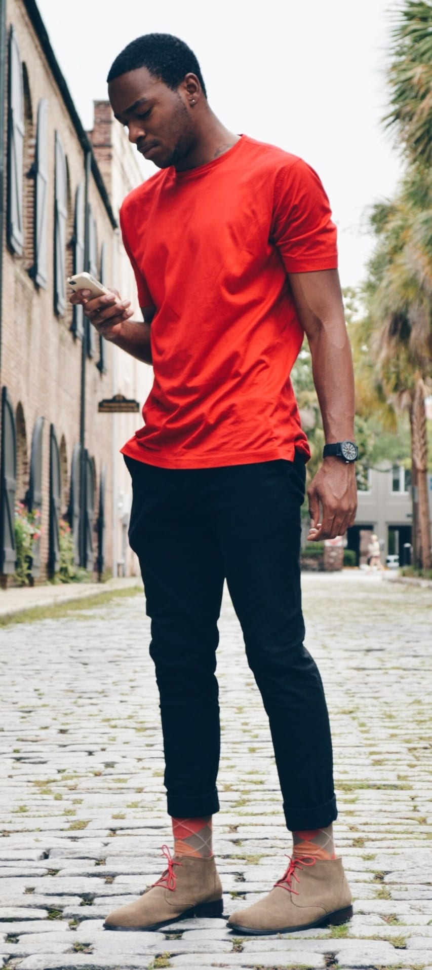 red t shirt Summer Outfit