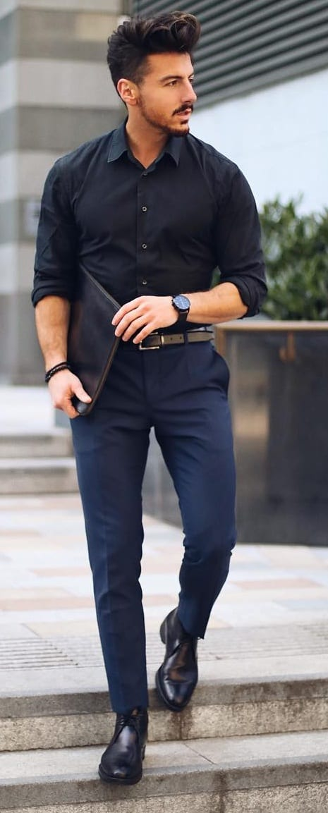 rowan row black shirt look