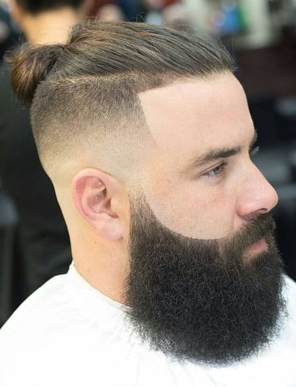 top knot fade