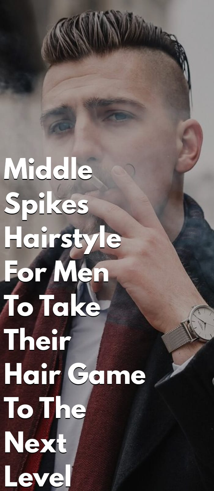 Middle Spikes Hairstyle For Men
