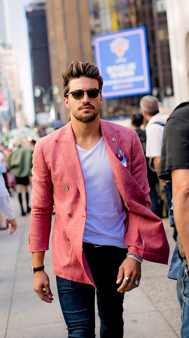 Pink Outfit Men - blazer