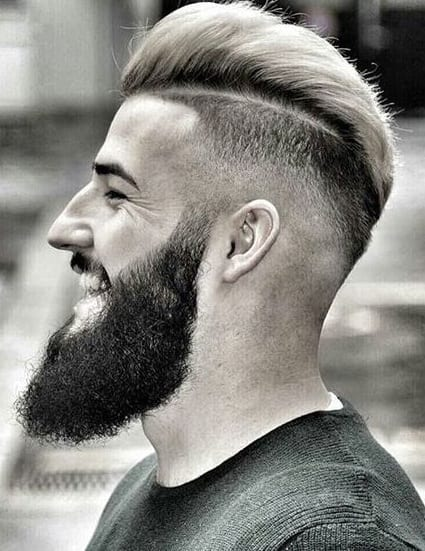 beard and disconnected pomp