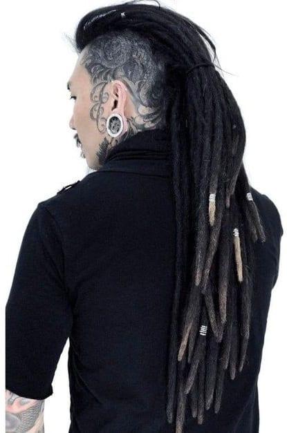 dreadlock undercut ponytail