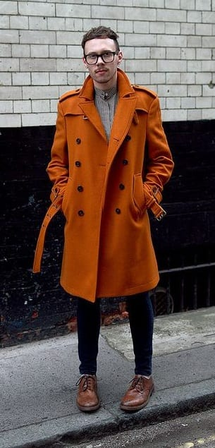outfit colour combination- orange