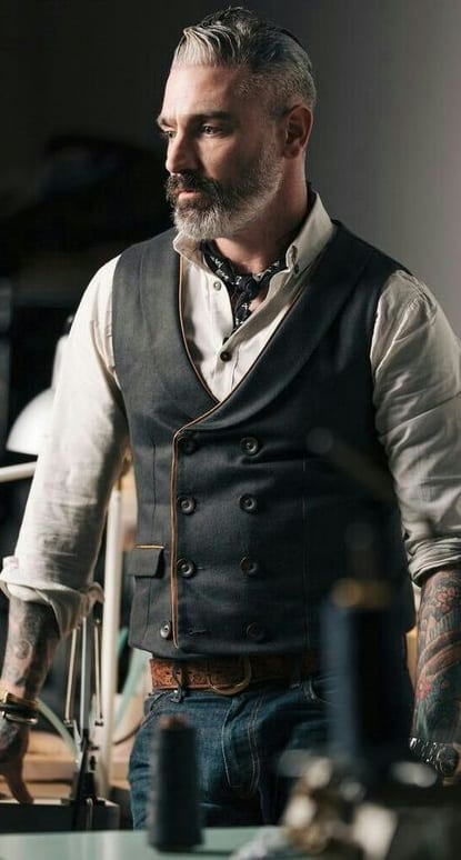 outfit layering - vest