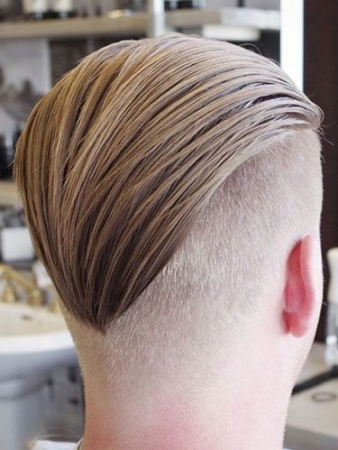 slick back undercut long hair