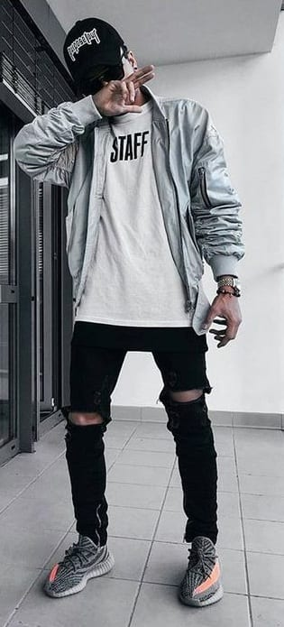 outfit with yeezys