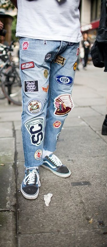 Patch Denim Outfit For Men