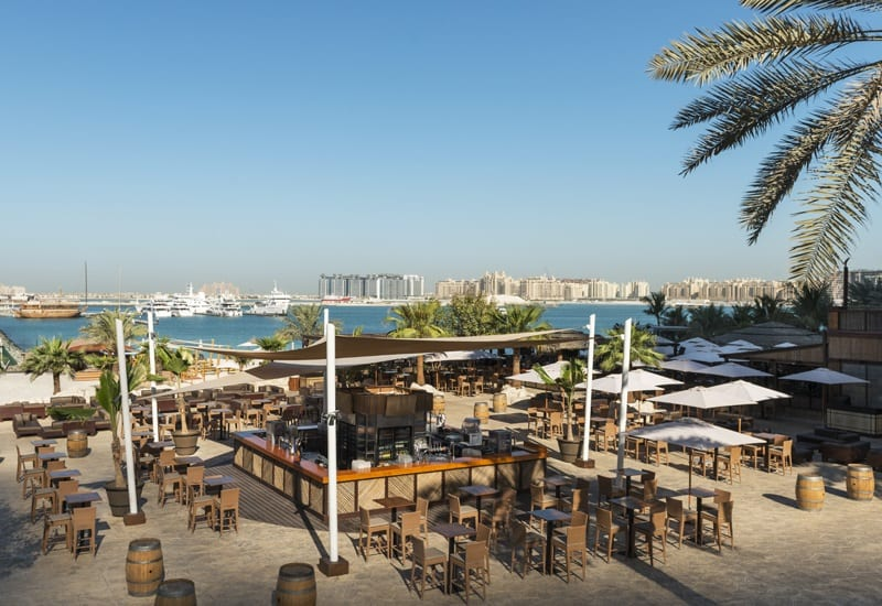 dubai marina beach, entry fees distane from, timing, water sports, adventures what to eat