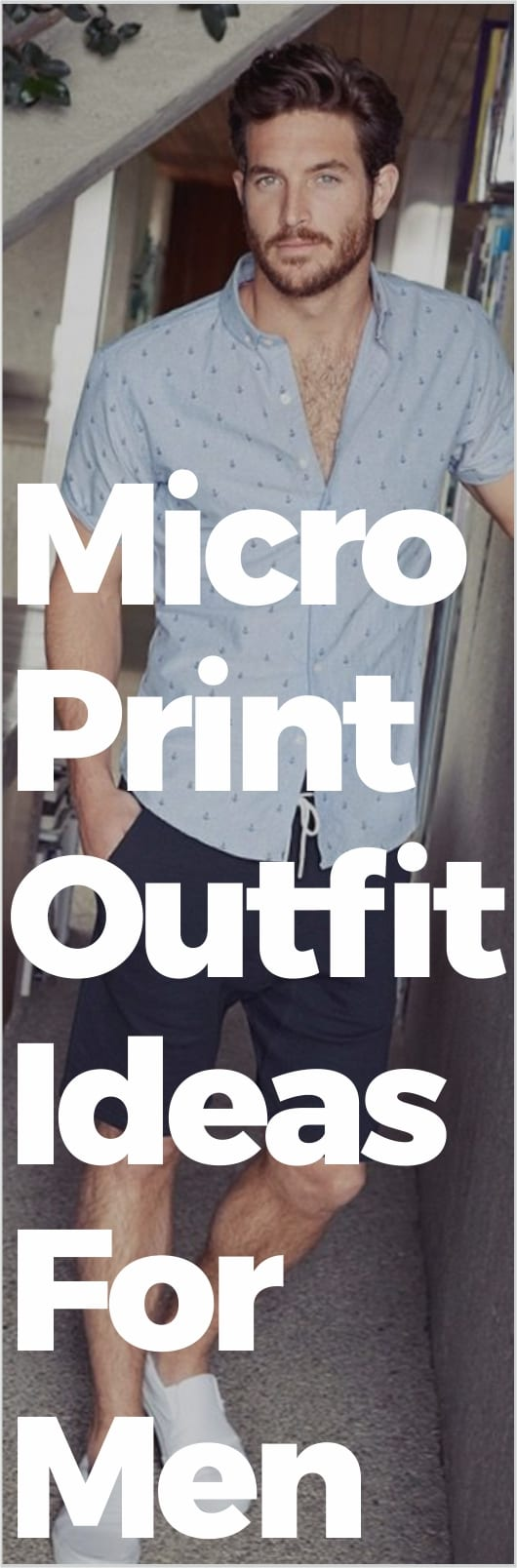 Micro Print Outfit Ideas For Men