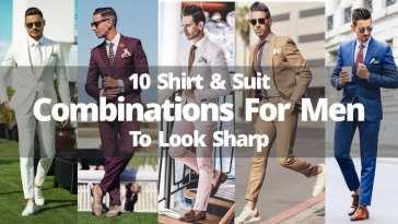 10 Shirt & Suit Combinations For Men To Look Sharp