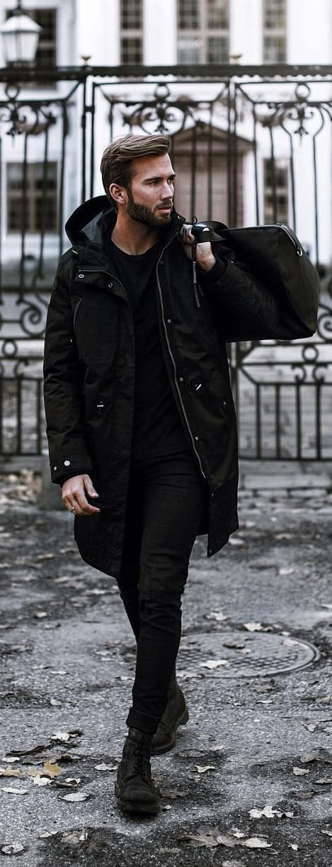 All Black Casual Outfit For Men
