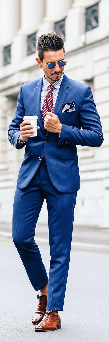 Blue Shirt And Navy Suit Combinations For Men To Style