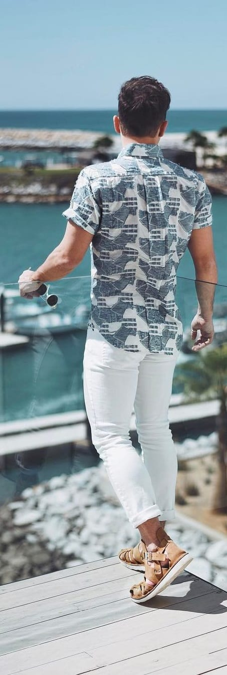 Casual Printed Shirt Outfit Ideas For Men