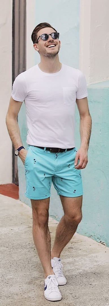Crew Neck T-shirt With Shorts For Men