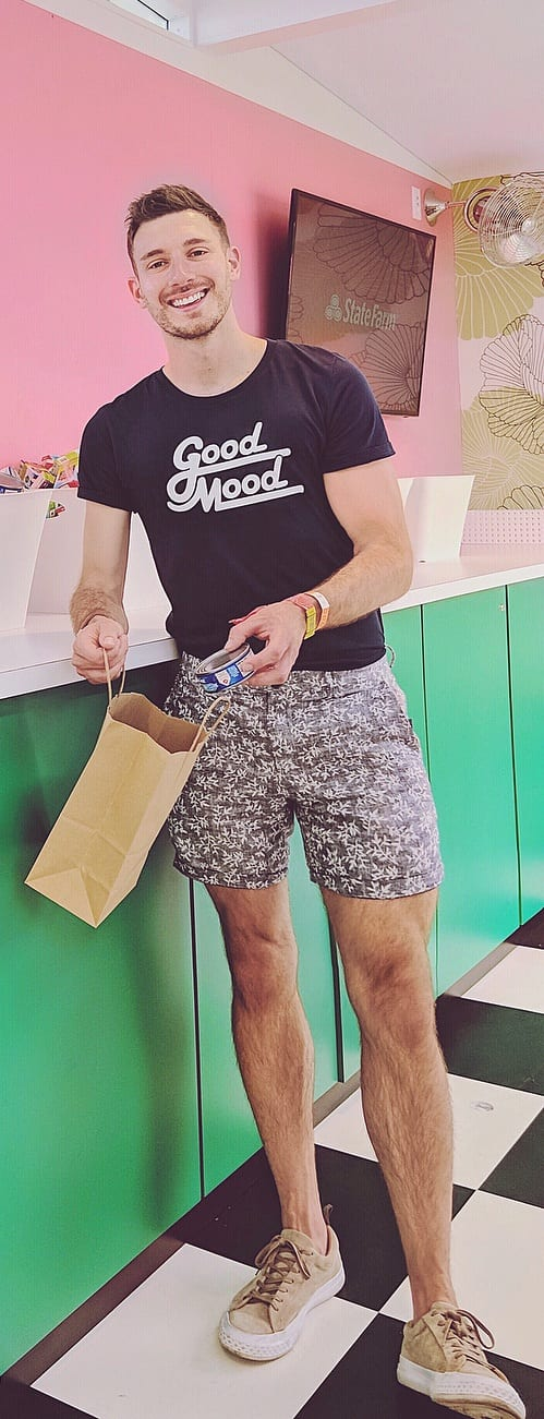 Graphic T-shirt With Printed Shorts For Men