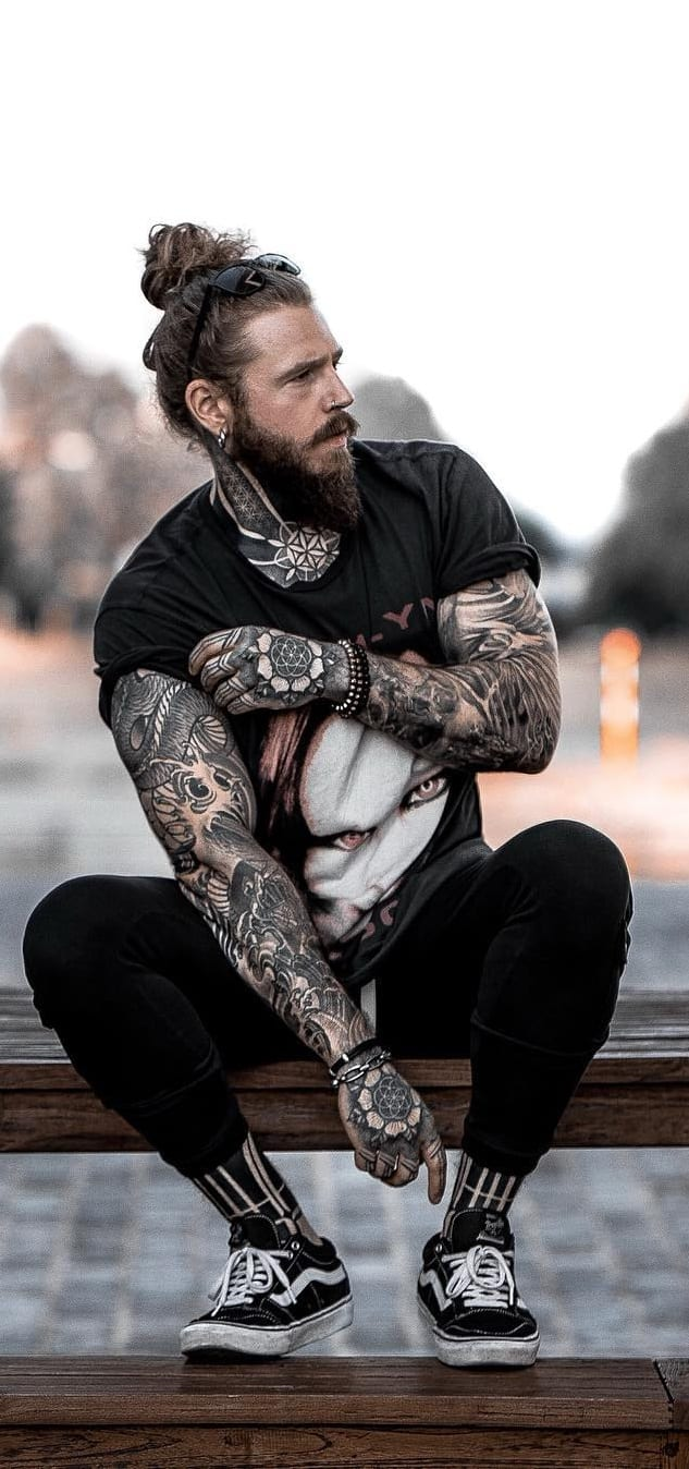 Hipster Bearded Men Outfit Ideas