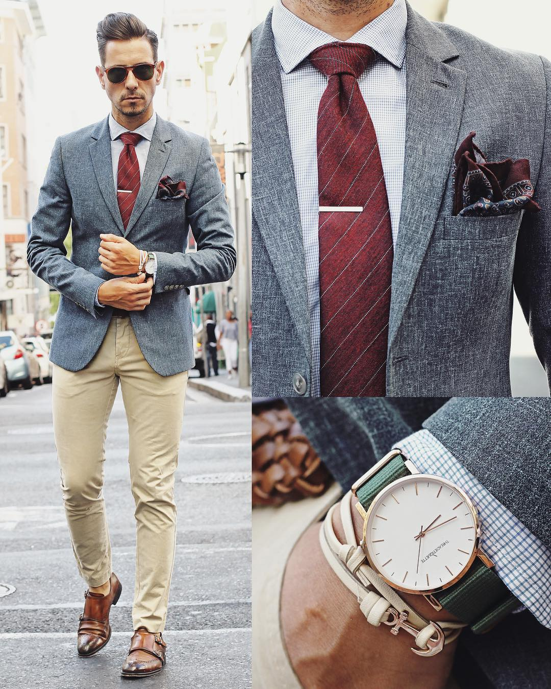 Suit, Accessories And Watch Combinations For Men