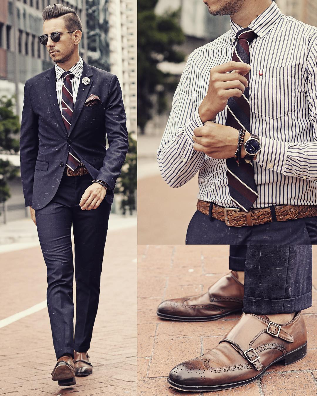 Suit ,Shoes And Watch Combinations For Men