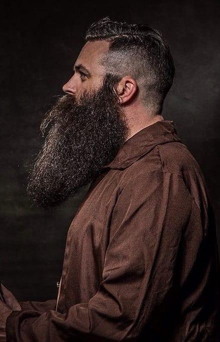 undercut with long beard