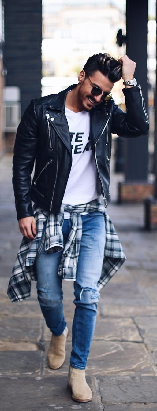 Street Style Plaid Outfit Ideas For Men