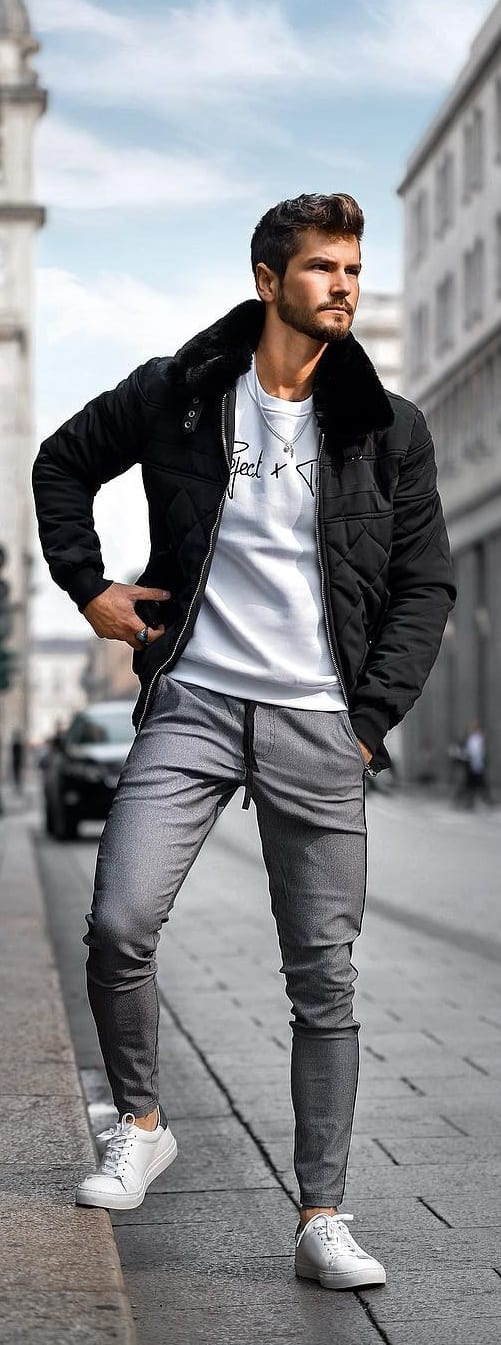 Captivating Bomber Jacket Outfit Ideas For Men