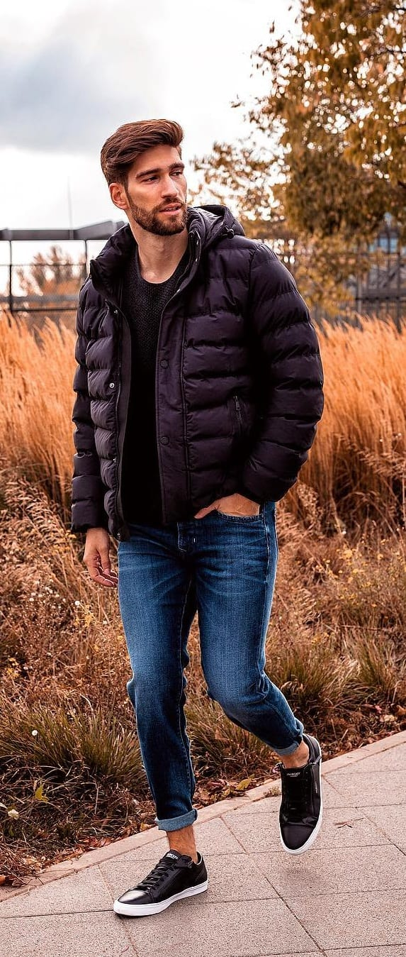 Puffer Jacket Outfit Ideas For Men To Try