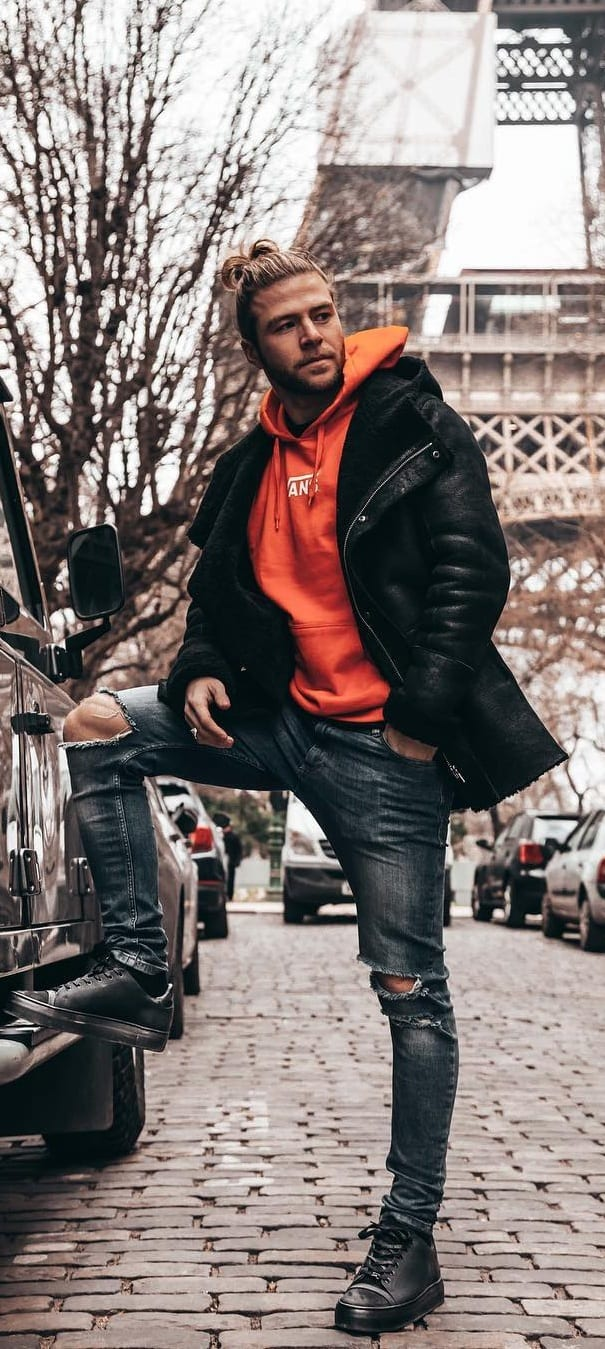 Street Style Puffer Jacket Outfit Ideas For Men