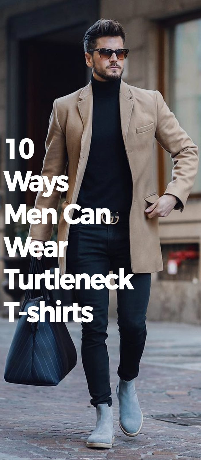 10 Ways Men Can Wear Turtleneck T-shirts.