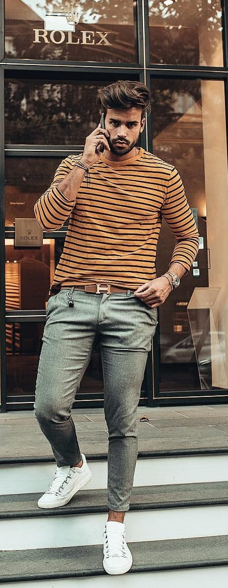 Crew Neck Outfit Ideas For Men This Year