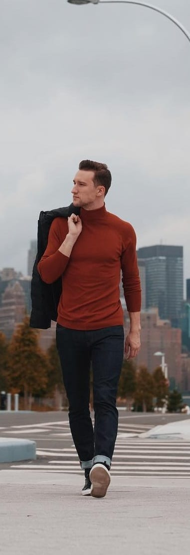 Stunning Turtle Neck Outfit Ideas For Men