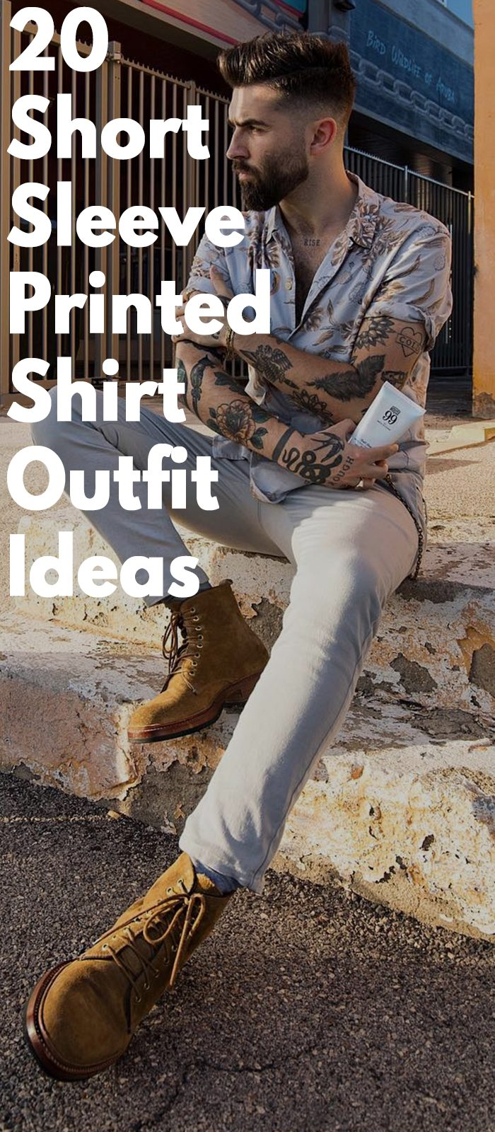 20 Short Sleeve Printed Shirt Outfit Ideas
